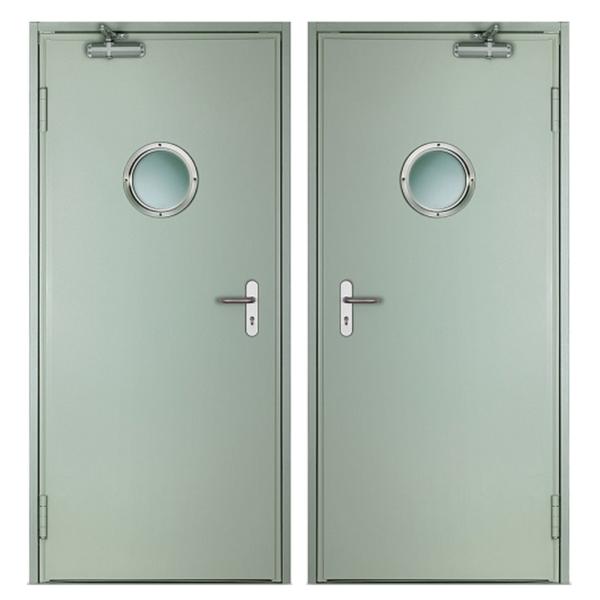 Металлическая противопожарная дверь DM-051 (порошок + порошок)