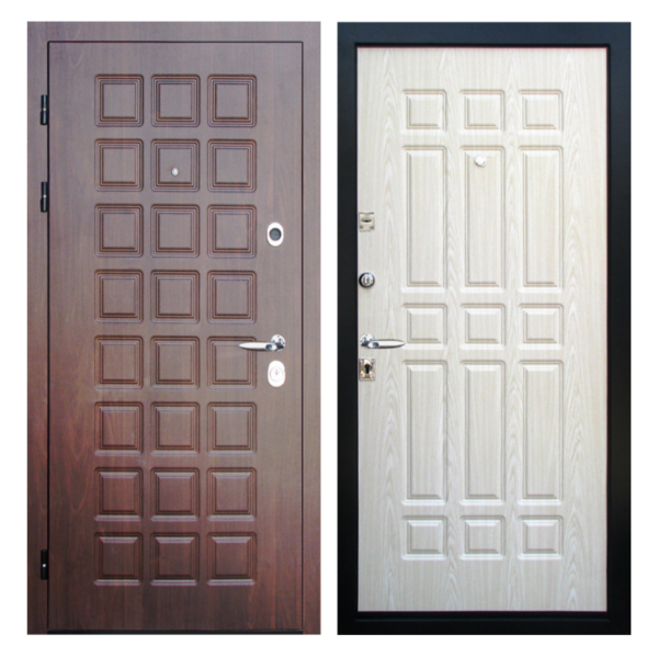Входная металлическая дверь MM-015 (МДФ панели снаружи и внутри)