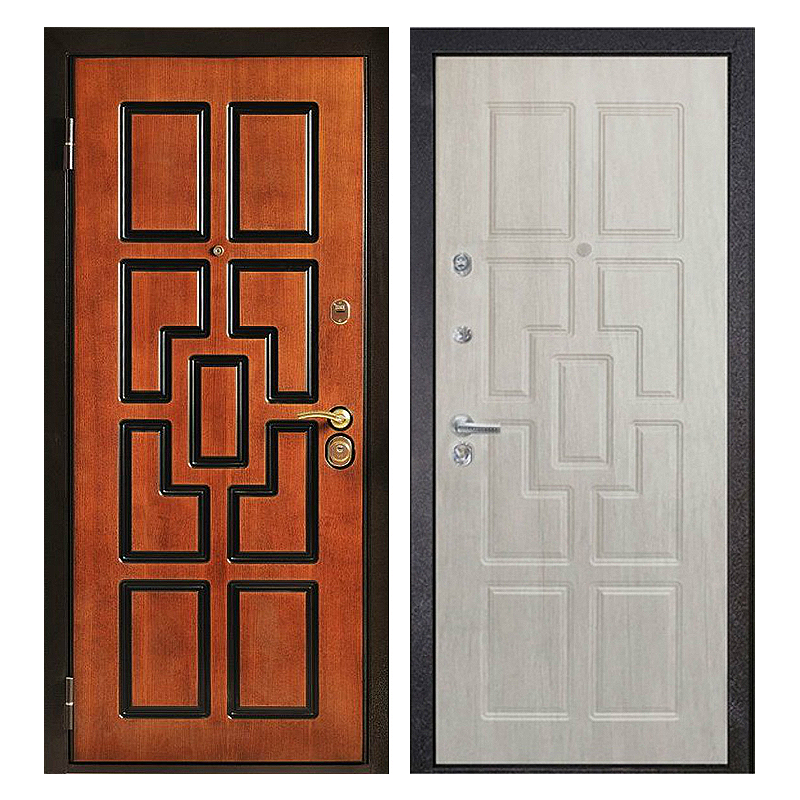Входная металлическая дверь MM-018 (МДФ панели снаружи и внутри)