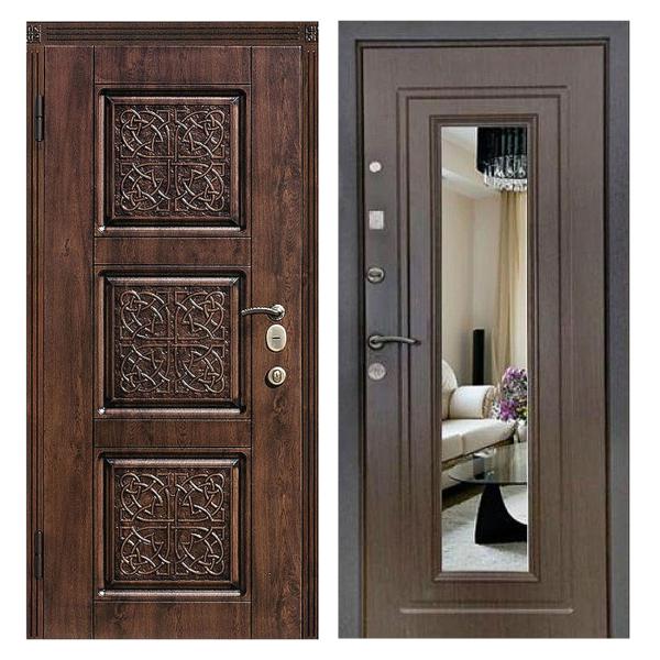 Входная металлическая дверь MRZ-001 (МДФ панели с зеркалом внутри)