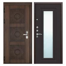 Входная металлическая дверь MRZ-003 (МДФ панели с зеркалом внутри)
