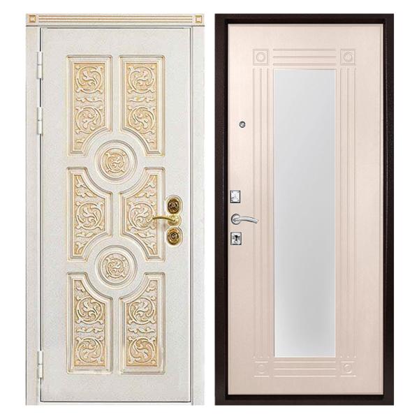 Входная металлическая дверь MRZ-005 (МДФ панели с зеркалом внутри)