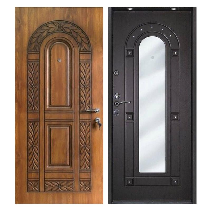 Входная металлическая дверь MRZ-006 (МДФ панели с зеркалом внутри)