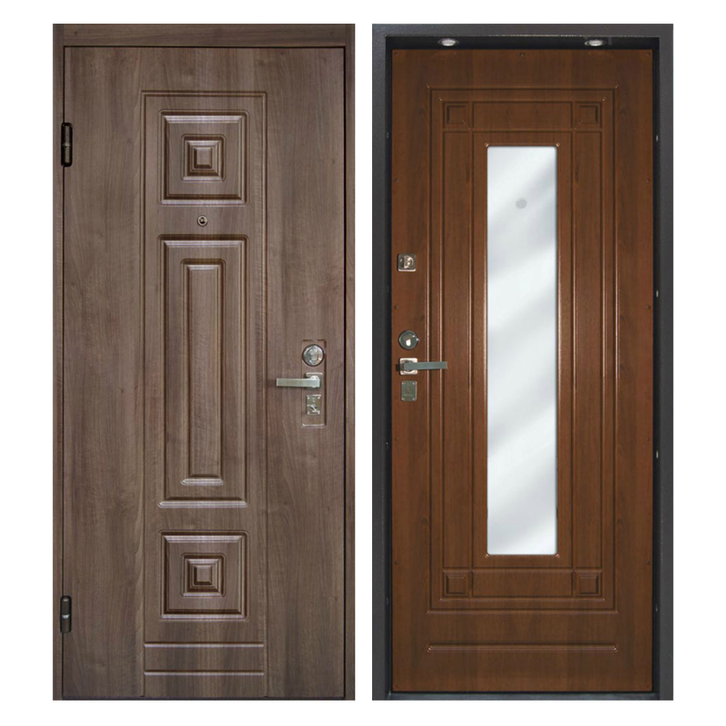 Входная металлическая дверь MRZ-008 (МДФ панели с зеркалом внутри)