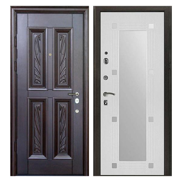 Входная металлическая дверь MRZ-009 (МДФ панели с зеркалом внутри)