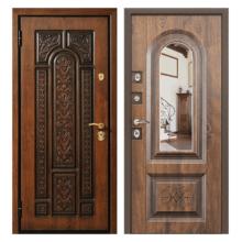 Входная металлическая дверь MRZ-010 (МДФ панели с зеркалом внутри)