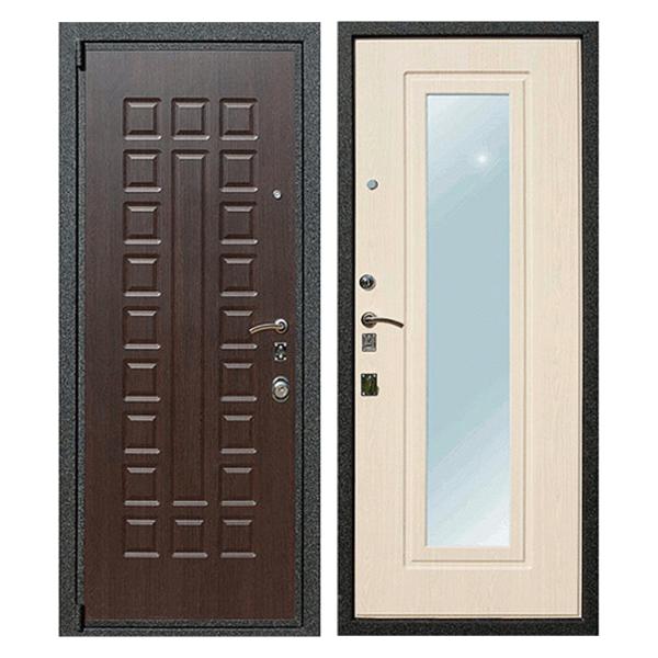 Входная металлическая дверь MZ-001 (МДФ панели с зеркалом внутри)