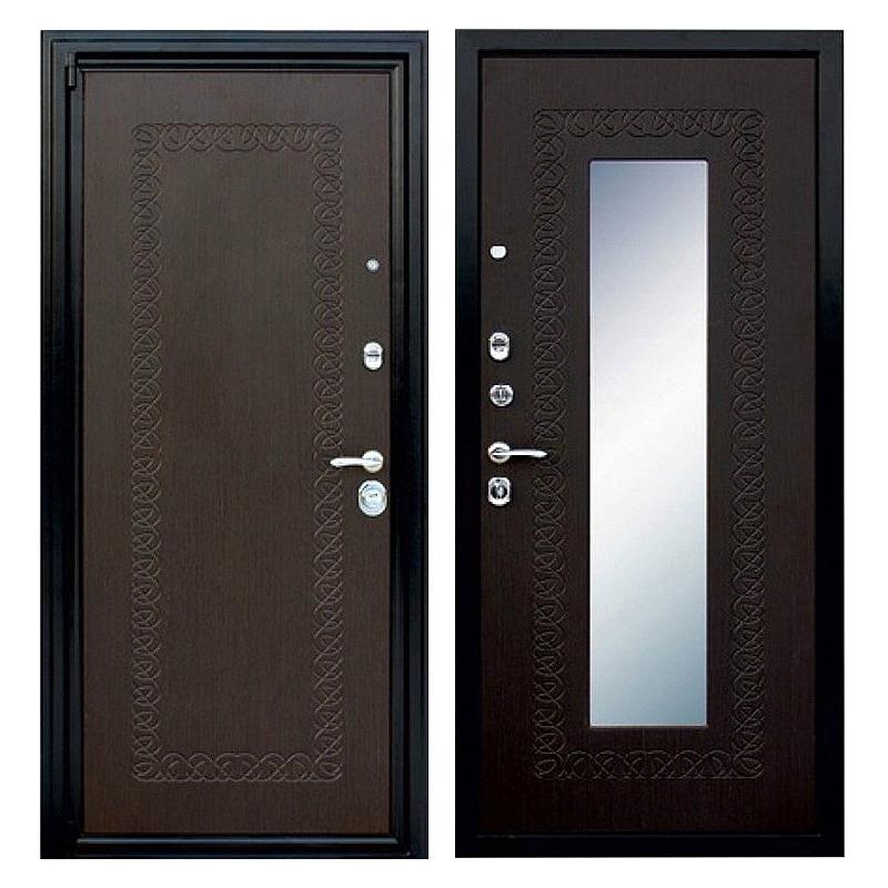 Входная металлическая дверь MZ-002 (МДФ панели с зеркалом внутри)