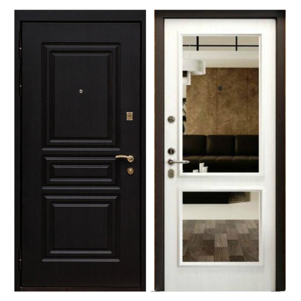 Входная металлическая дверь MZ-003 (МДФ панели с зеркалом внутри)