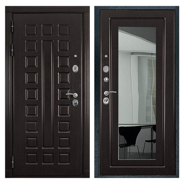 Входная металлическая дверь MZ-005 (МДФ панели с зеркалом внутри)
