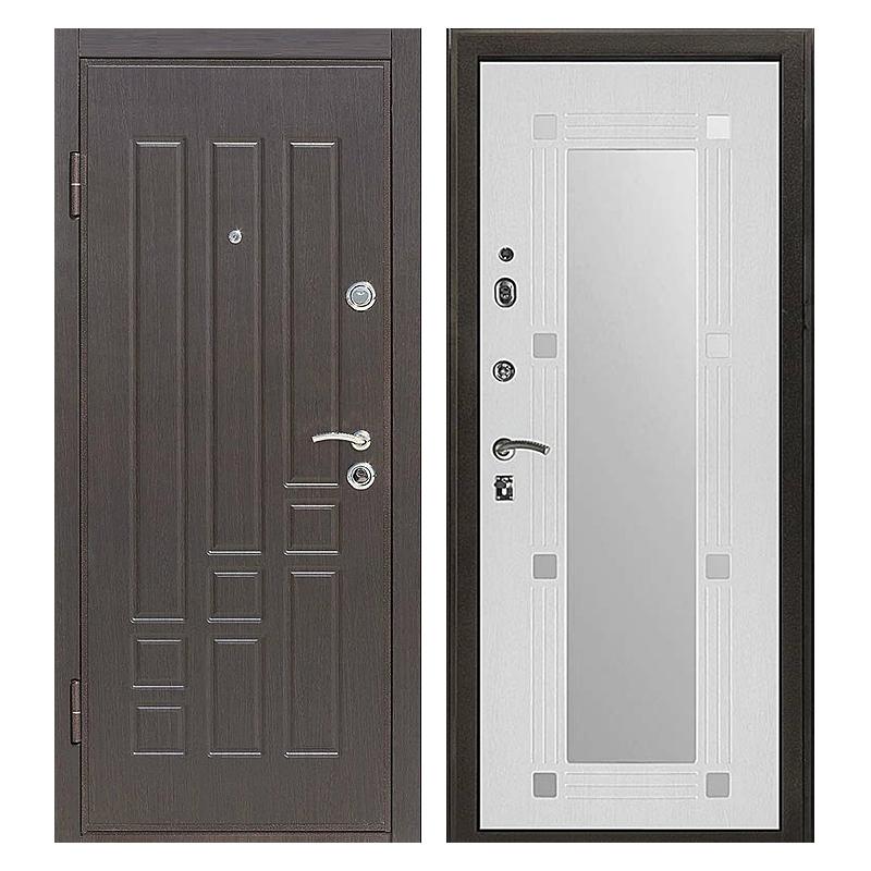 Входная металлическая дверь MZ-008 (МДФ панели с зеркалом внутри)