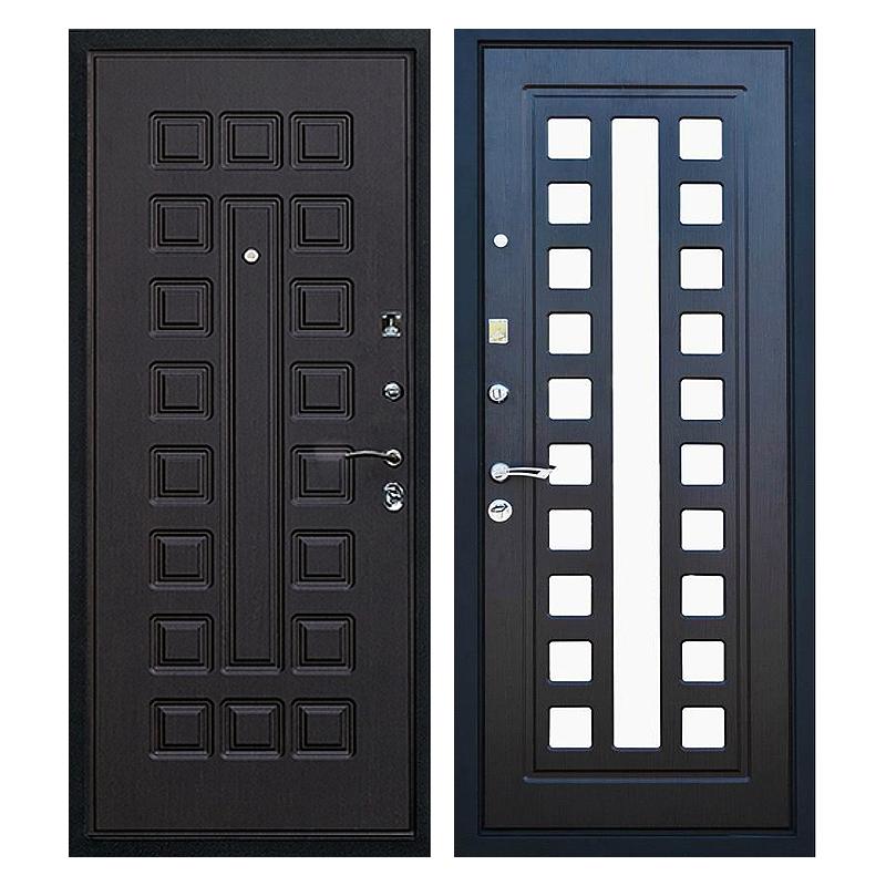 Входная металлическая дверь MZ-009 (МДФ панели с зеркалом внутри)