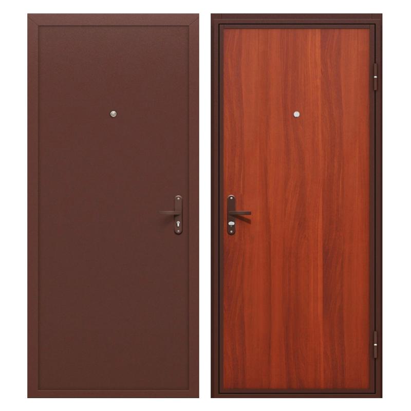 Металлическая дверь PL-003 (порошковое напыление + ламинированная панель)