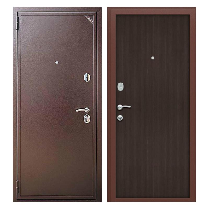 Металлическая дверь PL-006 (порошковое напыление + ламинированная панель)