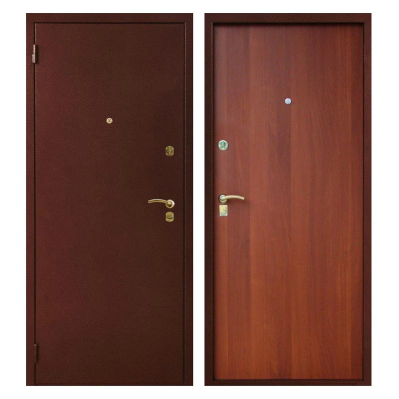 Металлическая дверь PL-007 (порошковое напыление + ламинированная панель)