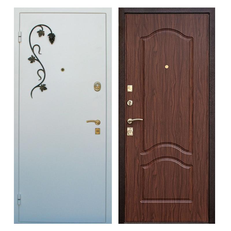 Входная металлическая дверь PMК-002 (порошковое напыление + МДФ + ковка)