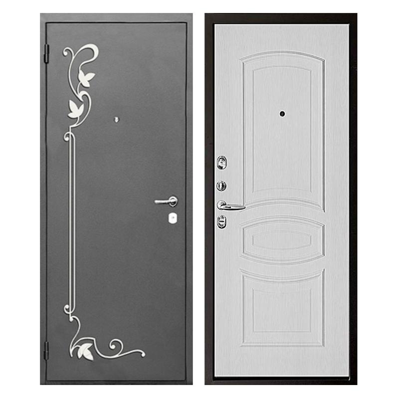 Входная металлическая дверь PMК-005 (порошковое напыление + МДФ + ковка)