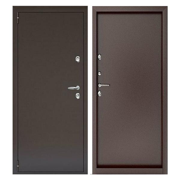 Входная металлическая дверь PP-001 (порошковое напыление снаружи и внутри)