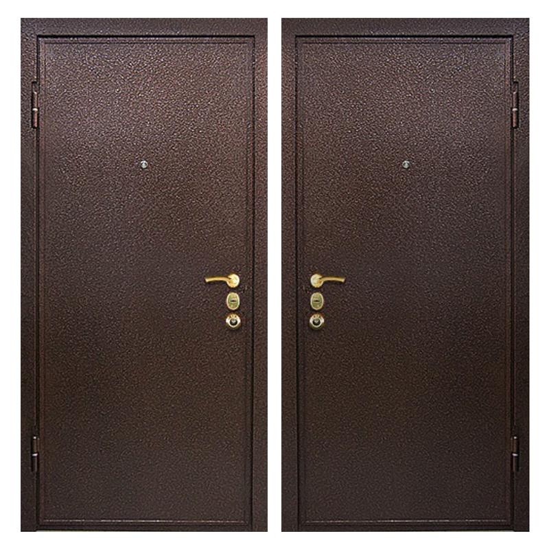 Входная металлическая дверь PP-010 (порошковое напыление снаружи и внутри)