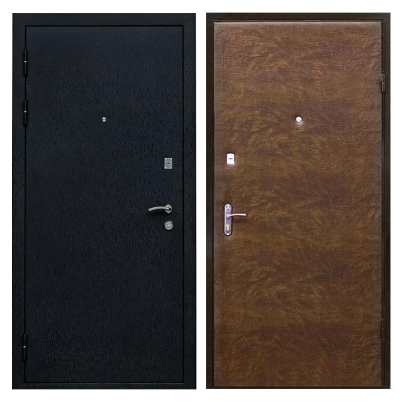 Входная металлическая дверь PV-001 (порошковое напыление + винилискожа)