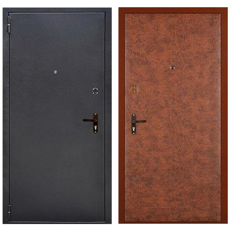 Входная металлическая дверь PV-003 (порошковое напыление + винилискожа)