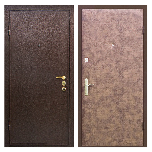 Входная металлическая дверь PV-004 (порошковое напыление + винилискожа)