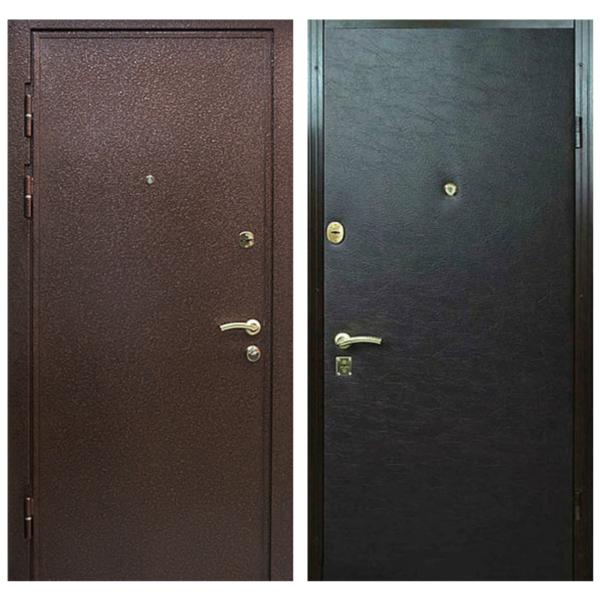 Входная металлическая дверь PV-005 (порошковое напыление + винилискожа)