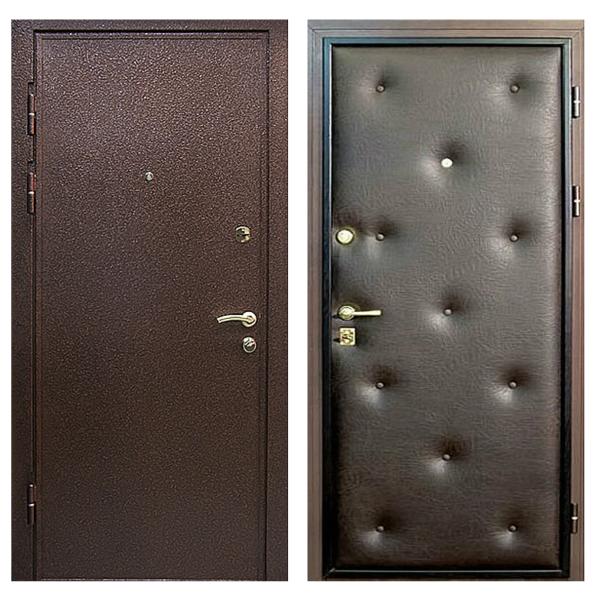 Входная металлическая дверь PVD-005 (порошковое напыление + винилискожа)