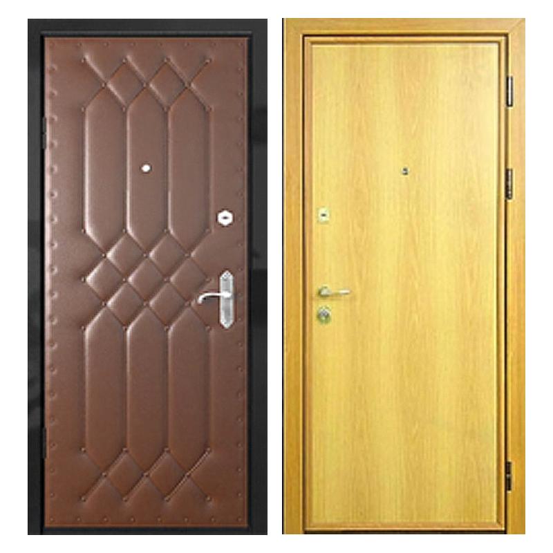 Входная металлическая дверь VDL-001 (винилискожа + ламинированная панель)