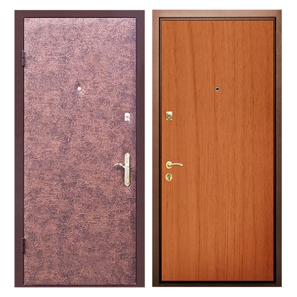 Входная металлическая дверь VL-003 (винилискожа + ламинированная панель)