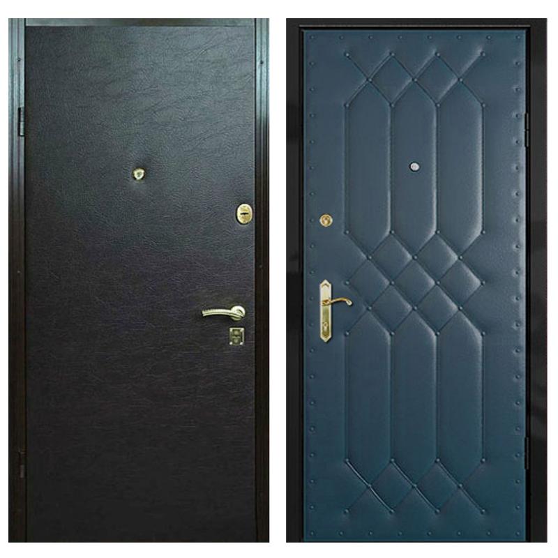 Входная металлическая дверь VVD-001 (винилискожа + винилискожа)