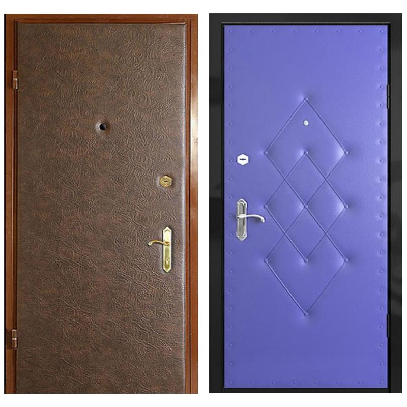 Входная металлическая дверь VVD-002 (винилискожа + винилискожа)