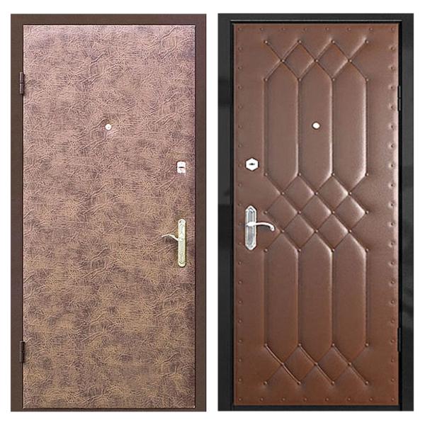 Входная металлическая дверь VVD-003 (винилискожа + винилискожа)