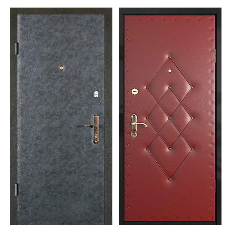 Входная металлическая дверь VVD-004 (винилискожа + винилискожа)