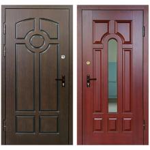Входная металлическая дверь DM-027 (МДФ панель снаружи и внутри + зеркало)