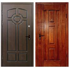 Входная металлическая дверь DM-028 (массив дуба + МДФ панель)