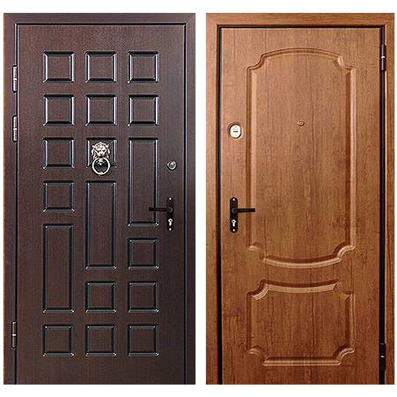 Входная металлическая дверь DM-029 (массив дуба + МДФ + зеркало)