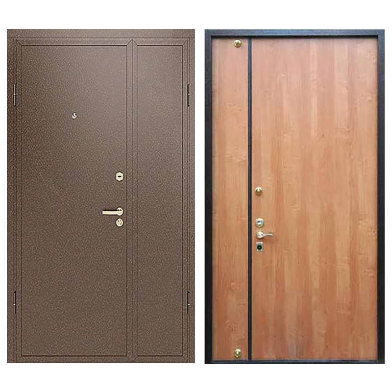 Входная подъездная металлическая дверь DM-033 (порошковое напыление + ламинат)