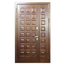 Входная подъездная металлическая дверь DM-035 (массив дуба снаружи и внутри)