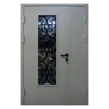 Подъездная металлическая дверь DM-040 (порошковое напыление + винилискожа)