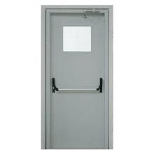 Металлическая противопожарная дверь DM-048 (порошковое напыление + стеклопакет)