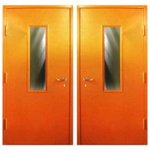 Противопожарная металлическая дверь DM-050 (порошковое напыление + остекление)