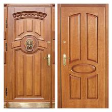 Входная металлическая дверь MD-001 (отделка массивом дуба снаружи и внутри)