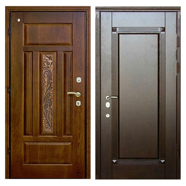 Входная металлическая дверь MD-002 (отделка массивом дуба снаружи и внутри)