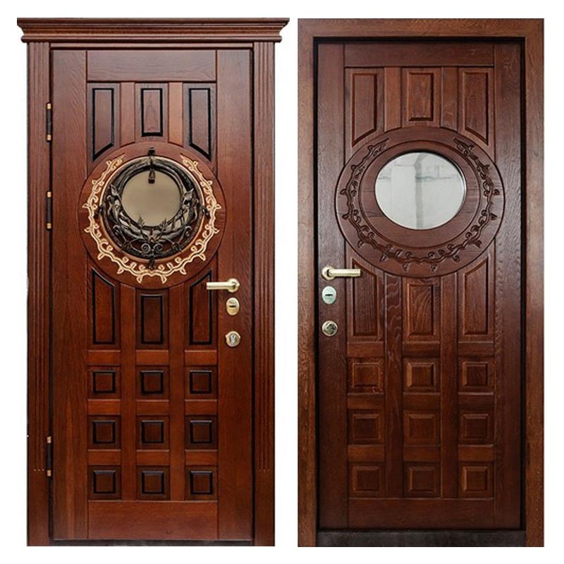 Входная металлическая дверь MD-003 (отделка массивом дуба снаружи и внутри)