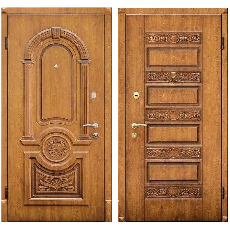 Входная металлическая дверь MD-005 (отделка массивом дуба снаружи и внутри)