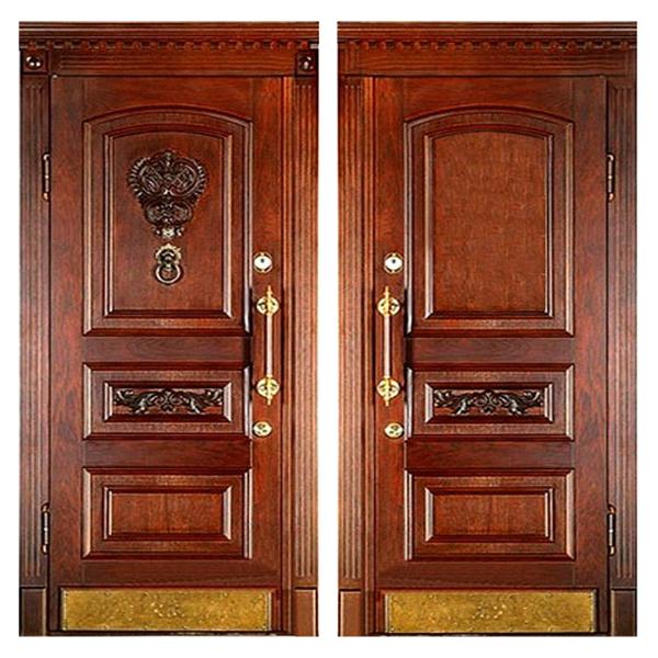 Входная металлическая дверь MD-007 (отделка массивом дуба снаружи и внутри)