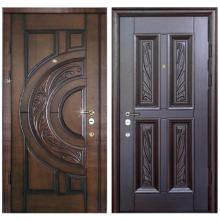 Входная металлическая дверь MD-009 (отделка массивом дуба снаружи и внутри)