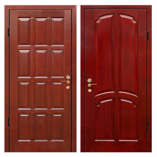 Входная металлическая дверь MD-010 (отделка массивом дуба снаружи и внутри)
