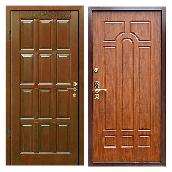 Входная металлическая дверь MD-011 (отделка массивом дуба снаружи и внутри)